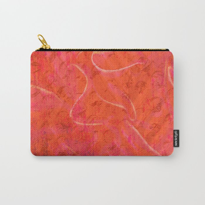 Flaming Rose, Floral Abstract Art Carry-All Pouch
