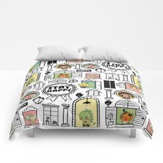 Pattern Stay Happy Animals Comforters