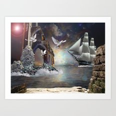 Grey Havens Farewell Art Print