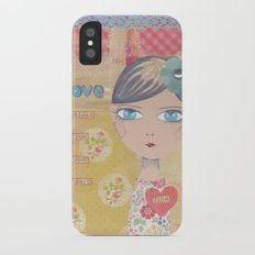 Love shines from your heart Slim Case iPhone X