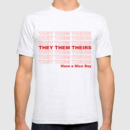 THEY THEM GROCERY PRONOUNS T-shirt