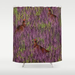 Grouse Pattern Shower Curtain