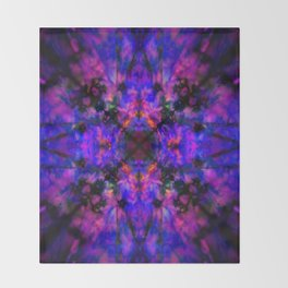 Dark blue kaleidoscope pattern Throw Blanket