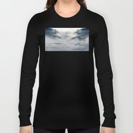 Wolves Among the Snowcapped Mountain Long Sleeve T-shirt