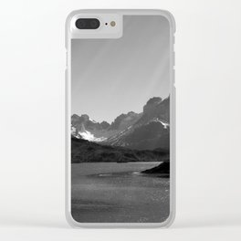 Patagonia Black and White Clear iPhone Case