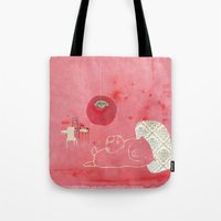 pig Tote Bags featuring Pig by yael frankel