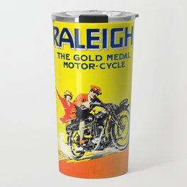 Raleigh Motorcycle, vintage poster Travel Mug