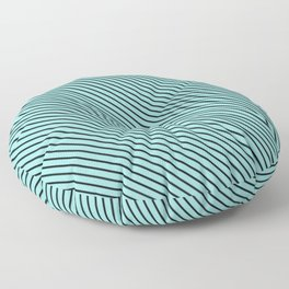 Limpet Shell and Black Stripe Floor Pillow