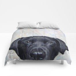 Lablador Dog illustration original painting print Comforters