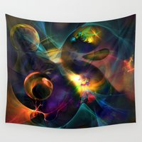 universe Wall Tapestries featuring Universe by Robin Curtiss