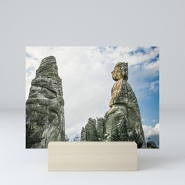 Rocks in Czech Republic Mini Art Print