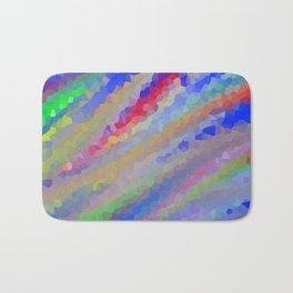 Crystallized Pastel Waves. Bath Mat
