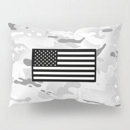Arctic Camouflage: Black Flag Pillow Sham