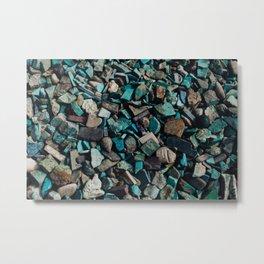 Turquoise & Teal Metal Print