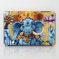 ganesh iPad Cases featuring Ganesh by RICHMOND ART STUDIO