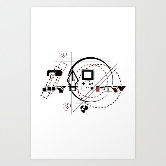 Pen Game Art Print