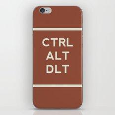 CTRL ALT DLT iPhone & iPod Skin
