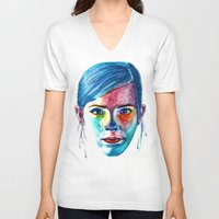 emma watson V-neck T-shirts featuring Emma Watson by Stella Joy