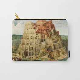 "Pieter Bruegel (also Brueghel or Breughel) the Elder ""The Tower of Babel (Vienna)"" Carry-All Pouch"