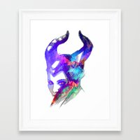 maleficent Framed Art Prints featuring Maleficent by Ryky