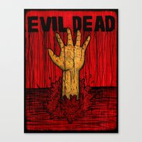 evil dead Canvas Prints featuring Evil Dead by Pineyard