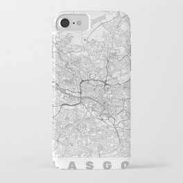 Glasgow Map Line iPhone Case