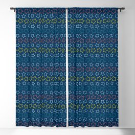 Colorful stars aligned Blackout Curtain