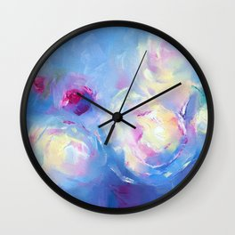 ''Summer Bouquet'' oil painting by Diana Grigoryeva Wall Clock