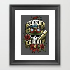 On Duty Framed Art Print