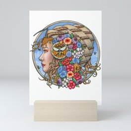 Beatrix Bee Queen by Bobbie Berendson W Mini Art Print