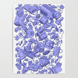 Retro Gamer - Blue Poster