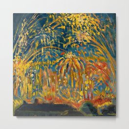 Colorful Summer Fireworks in Nice, France landscape by Nicolai Tarkoff Metal Print