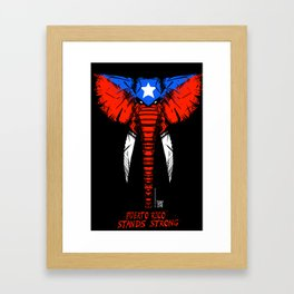 PR Stands Strong Framed Art Print