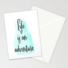 Life is an adventure Stationery Cards