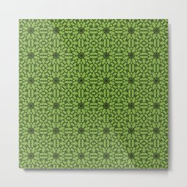 Greenery Lace Metal Print