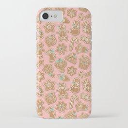 Gingerbread Cookies Pink iPhone Case