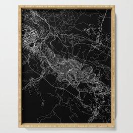 Bilbao Black Map Serving Tray