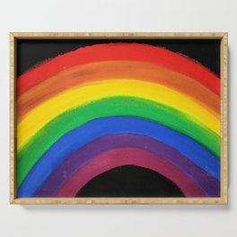 rainbow love (y) Serving Tray