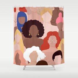 Who run the world? Shower Curtain