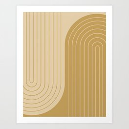 Two Tone Line Curvature XXXVIII Art Print