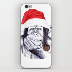 Christmas Chimp iPhone & iPod Skin