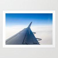 airplane Art Prints featuring Airplane by Fernando Derkoski