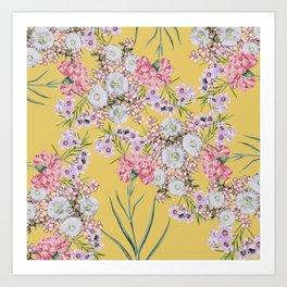 Natural Beauty Botanic Floral Print #society6 #floral #homedecor Art Print