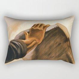 Ercolano Naples Italian art deco ad Rectangular Pillow