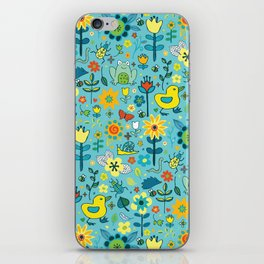 Ducks and frogs in the garden iPhone Skin