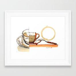coffee composition #23 Framed Art Print