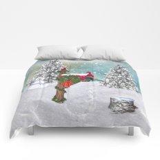 Seasons Mailbox Winter Comforters