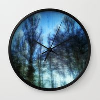 giants Wall Clocks featuring WINTER GIANTS by Andy Burgess