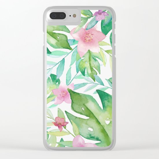 FLOWERS WATERCOLOR 17 Clear iPhone Case