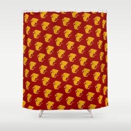 Multi Pendragon Wyvern Shower Curtain